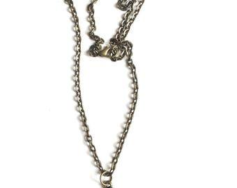 Necklace 50 shades of Grey bronze tie