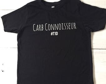 Carb Connoisseur Type One Diabetes Youth Tee