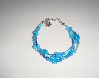 Bracelet child flower pendant beads