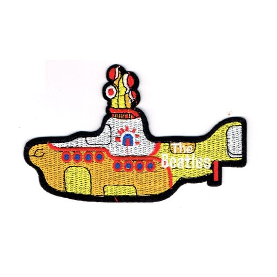 "Patch fusible pattern ""yellow submarine of beatles"""