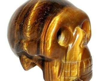 40mm - Tiger eye Crystal Skull
