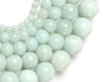 Pearl round amazonite 6mm x 15