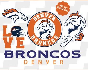 Denver Broncos Svg, Denver Broncos vector, Denver Broncos clipart, Denver Broncos football, Denver Broncos DXF, PNG, EPS