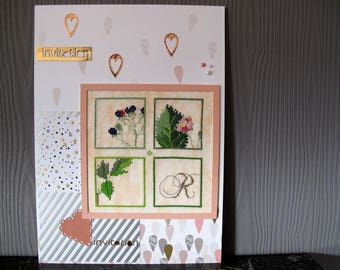 """Table 4 embroidered squares """"invitation"""""""
