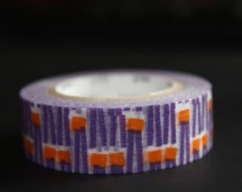 roll of masking tape 10 m purple orange