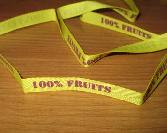 Ribbon 100% fruit yellow 75cm