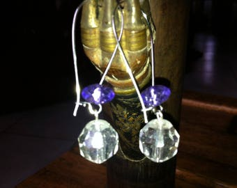 Dangling earrings faceted beads
