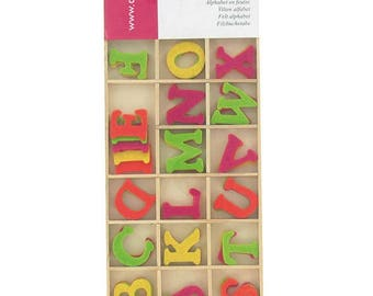 "80 assorted shapes ""Boy Alphabet"" - Artemio - Ref FE57A3 felt"