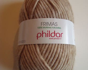 Frost Phildar wool - 50 g - color CAMEL - 100% natural materials