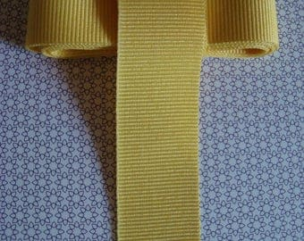 1.30 m braid, GIMP, 2.5 cm - yellow grosgrain Ribbon
