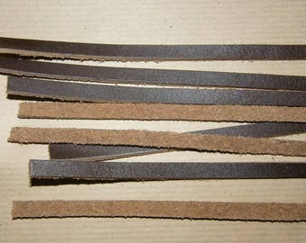 5mm wide brown leather strap