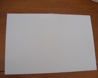 rectangle leather grosgrain color white 20 * 30 cm 2 mm thick