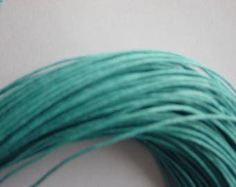 5 meters of thread waxed cotton turquoise 1 mm