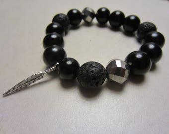 Aromatherapy Bracelet - Black