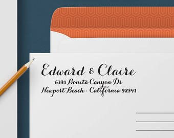 Custom Address Stamp 325 - Return Address Stamp, Self Inking Stamp, Custom Stamp, Personalized Address Stamp, Wedding and Housewarming Gift