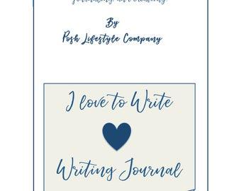 I Love to Write, Writing Journal