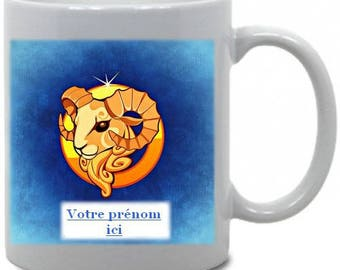 "Personalized mug ""Aries"" Astrology theme"