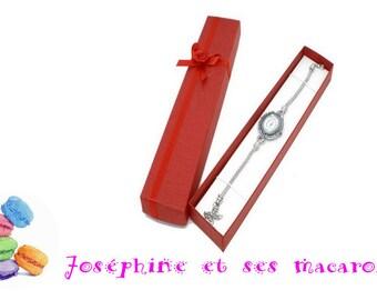 Red jewelry gift box 208 42 x 20 mm x 1