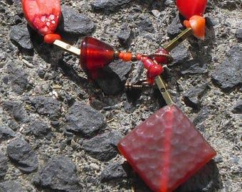 Set of red dragon bracelet