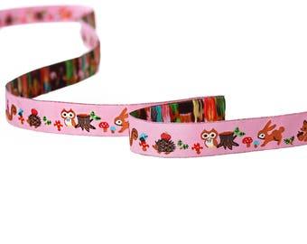 Woven multicolored 16mm - SC64668 - animals themed Ribbon