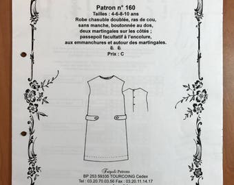 Fregoli No. 160 pinafore dress sewing pattern