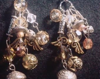 Vintage roses earrings