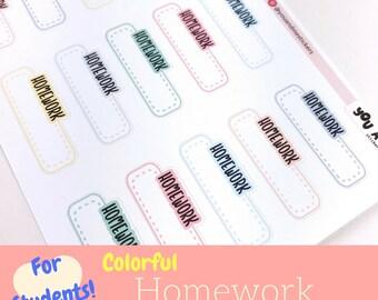 Student Sticker   Homework Sticker   School Sticker   College Sticker   Academic   Erin Condren   Happy Planner   Bullet Journal   LS43b
