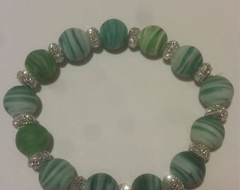 Blue and Green Swirl Bracelet