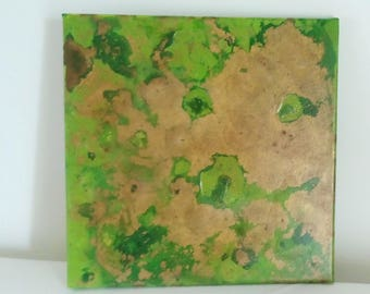 abstract painting Untitled 30 4 17 acrylic abstract painting green
