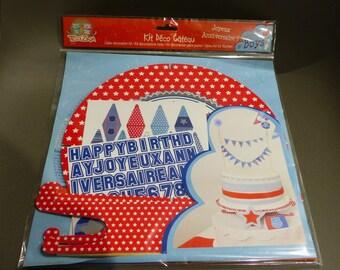 cake decoration Kit atmosphere boy boys birthday