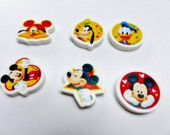 Mickey mouse Donald pluto goofy Disney collection Kit eraser child 6 rubber Eraser