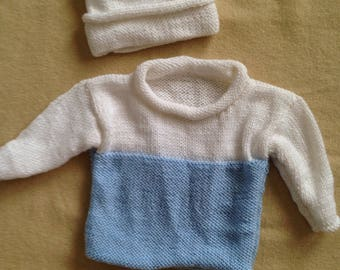 Infant sweater and hat set