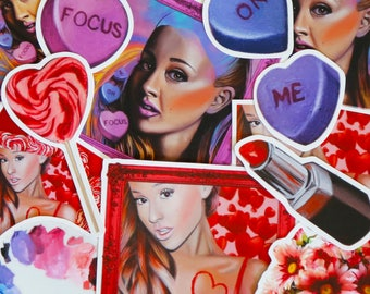 Ariana Grande, Stickers, Pop Art, Oil Painting, Ariana Grande Stickers, Sticker Pack
