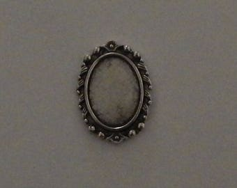 Silver medium cabochon 13 x 18 mm (SC039)