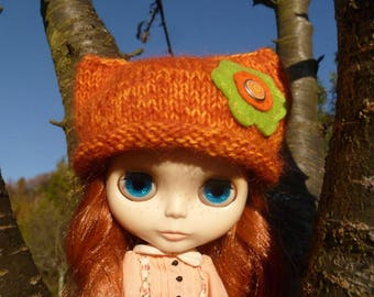 Bonnet pour Blythe - Hand knitted hat for Blythe doll