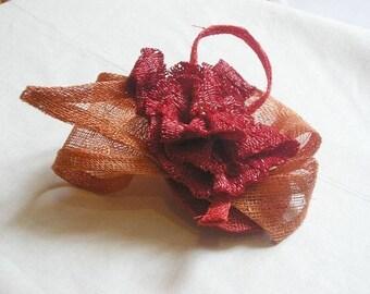 Pink brooch