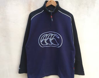 Vintage Canterbury Sweatshirt Big Logo Jumper Pullover 90s XL Size Rare Item