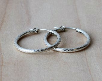 Silver Hoop Earrings, Delicate Hoop Earrings, Large Silver Hoop Earrings, Minimalist Jewellery, Modern Hoop Earrings, Holiday Gift