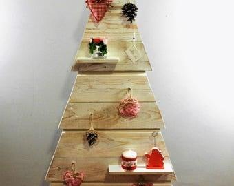 Reclaimed wood Christmas tree, height 120 cm