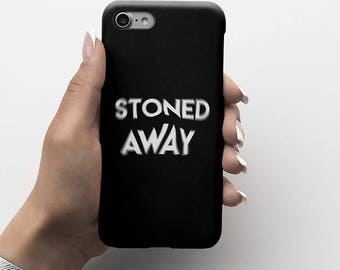 Blurred Lines Stoned Away Durable Hard Plastic Phone Cover For iPhone 6, iPhone 7, Samsung Galaxy S |ID185