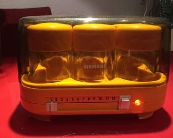 Siemens Joghurette yoghurt conditioner TJ1200 design classics Orange 1970 s