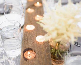Wedding table decor wood candelabra candle centerpiece