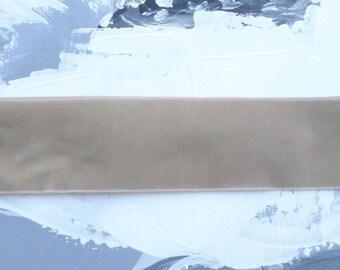 1 m x beige velvet Ribbon