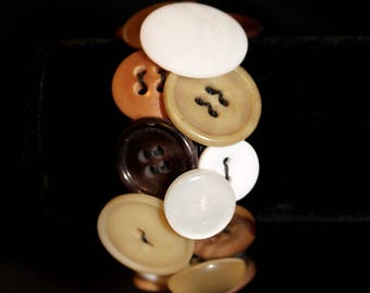 Vintage Button Bracelet