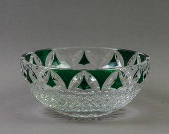 Val Saint Lambert Cut Crystal Fruit Bowl
