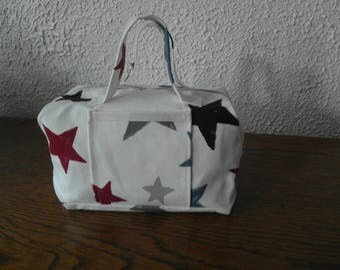 small suitcase fabric cotton fully lined