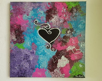 painting abstract art paintings love theme