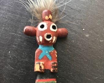 2.25 inch Vintage Hopi Carved Mud Head Kachina Pin