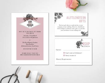 Wedding Invite Design | Digital Download Wedding Invitation | Wedding invitations | Wedding Invites | VERONICA SUITE