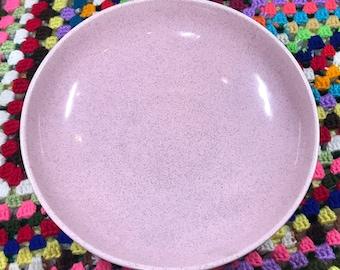 BAUER Pink Speckled Serving Dish  1950's